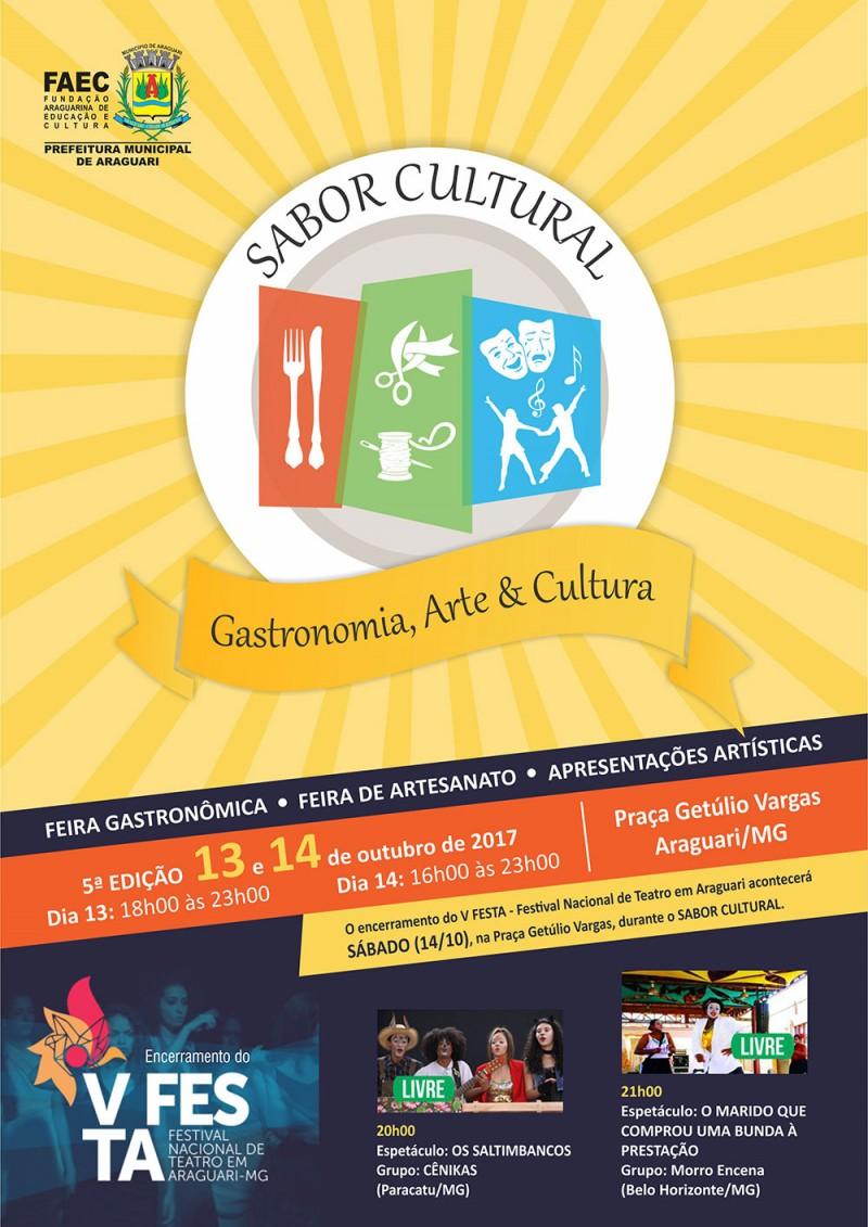 Prefeitura de Araguari realiza 5ª edição do Sabor Cultural – Gastronomia, Arte & Cultura