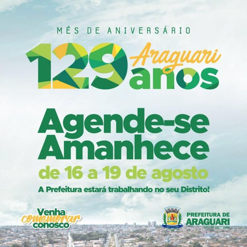 129 anos do aniversário de Araguari está sendo celebrado nos Distritos de Piracaíba e Amanhece