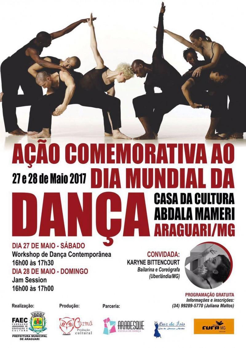 Dia mundial da dança terá ação especial em Araguari